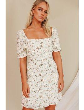 Gisele Rose Button Front Mini Dress // Floral by Vergegirl