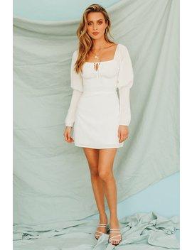 Dream Role Tie Front Mini Dress // White by Vergegirl