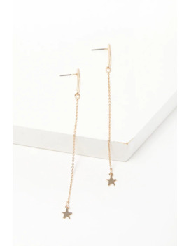 Star Charm Drop Earrings by Forever 21