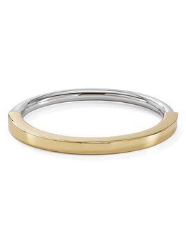 Two Tone Bangle Bracelet by Tory Burch