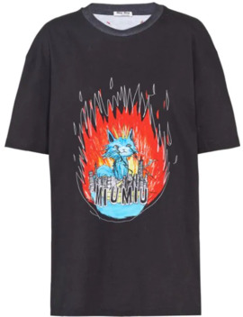 Printed T Shirt by Miu Miu
