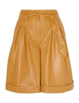 Colorado Belted Vegan Leather Shorts by Nanushka