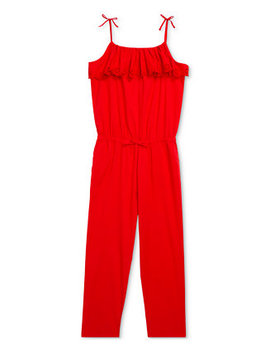 Big Girls Eyelet Cotton Batiste Jumpsuit by General