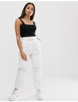 Collusion Petite High Waisted Pocket Pants by Collusion