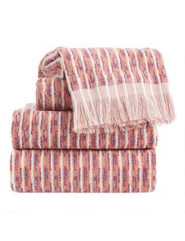 Terracotta And Lavender Jacquard Lina Towel Collection by World Market
