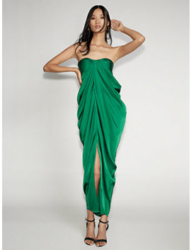 Green Strapless Maxi Dress   Gabrielle Union Collection by New York & Company