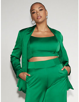 Green Open Front Blazer   Gabrielle Union Collection by New York & Company