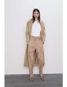 Cargo Pants With Belt Cargo Pants Woman by Zara
