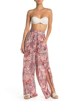 Passion Reef Print Palazzo Cover Up Pants by Maaji