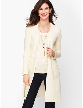 Cotton Modal Open Front Sweater by Talbots