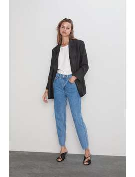 Jeans Zw Premium The Slim Straight Regular Fit Jeans Mulher by Zara