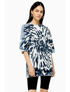 **Black And White Tie Dye T Shirt By Boutique by Topshop