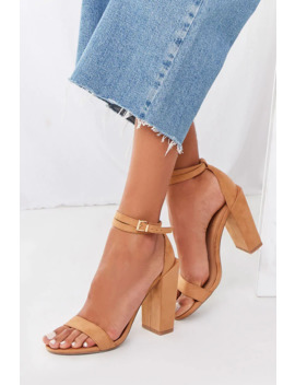 Faux Suede Block Heels by Forever 21