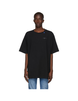 Black & Silver Oversized Unfinished T Shirt by Off White