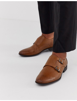 Asos Design Monk Shoes In Tan Faux Leather by Asos Design