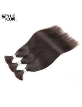 Styleicon Human Braiding Hair Bulk For Braiding 4 Bundles Remy Brazilian Straight Bulk Hair Without Wefts Free Shipping By Dhl by Ali Express