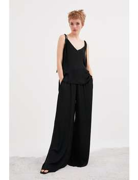 Wide Flowy Pants View All Pants Trf by Zara