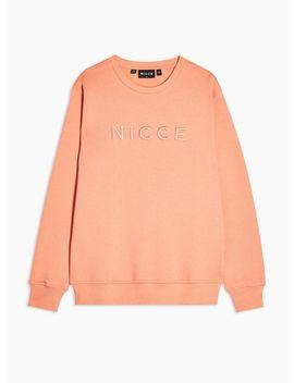 Nicce Coral Chest Logo Mercury Sweatshirt by Topman