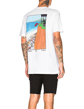 X Ken Price Car Plunge Tee In White by Stussy