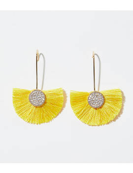 Fringe Fan Drop Earrings by Loft