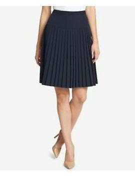 Tommy Hilfiger $89 Womens New 1117 Navy Twill Pleated Skirt 16 B+B by Tommy Hilfiger