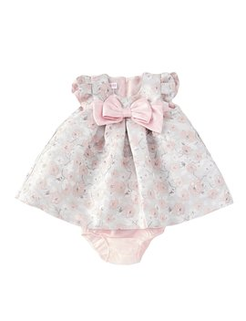 Baby Girls Newborn 24 Months Floral Jacquard Float Dress by Bonnie Jean
