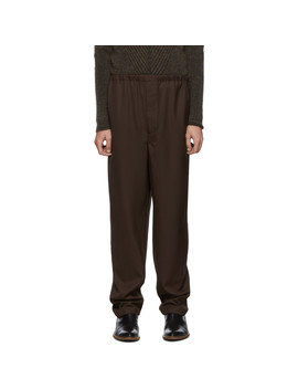 Brown String Trousers by Lemaire