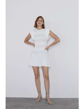 Pointelle Dress With Ruffled Sleeves View All Dresses Woman by Zara