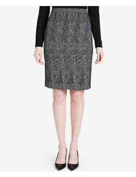 Calvin Klein $89 Womens New 1344 Ivory Jacquard Pencil Skirt 16 B+B by Calvin Klein