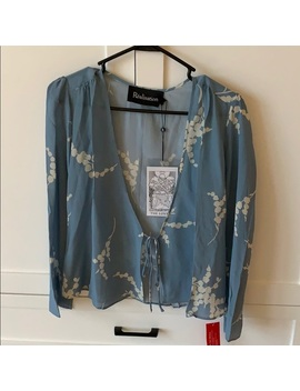 Blue Silk Blouse By Realisation   Nwt by Realisation