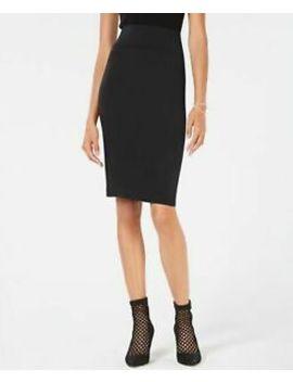 Inc $49 Womens New 1092 Black Curvy Fit Ponte Pencil Skirt Xl B+B by Inc