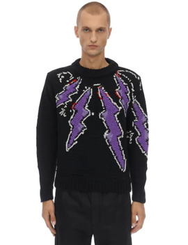 Handmade Flash Shetland Sweater by Prada