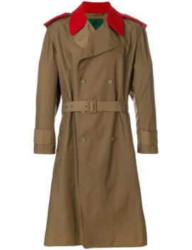 Contrast Details Trench Coat by Jean Paul Gaultier Pre Owned
