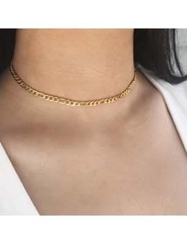 Figaro Chain Choker   Figaro Necklace, Figaro Chain Necklace, Gold Choker Necklace, Figaro Choker, Simple Choker, Thick Choker, Chain Choker by Etsy