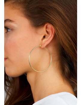 Gold Hoops Earrings, Big Hoops Earrings, 14 K Gold Hoops, Earrings For Women, Simple Hoop Earrings, Large Hoop Earrings, Thin Hoops by Etsy