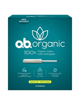 O.B. Organic Tampons   Plant Based Applicator   Unscented   Regular   18ct by Plant