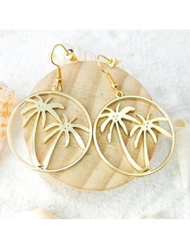 Palm Tree Earrings, Tropical Earrings, #843 by Etsy