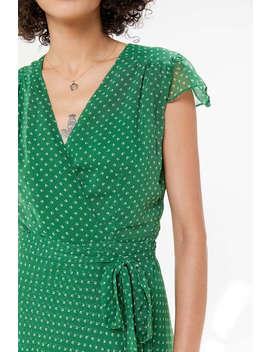 Uo Betsey Chiffon Wrap Midi Dress by Urban Outfitters