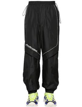 Nylon Pants W/ Zips & Piping by Juun.J