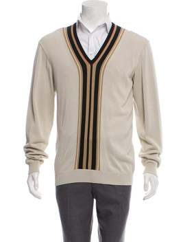 Woven V Neck Sweater by Gucci