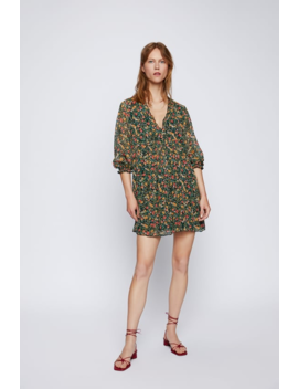 Floral Print Dress  Mini Dresses Woman by Zara