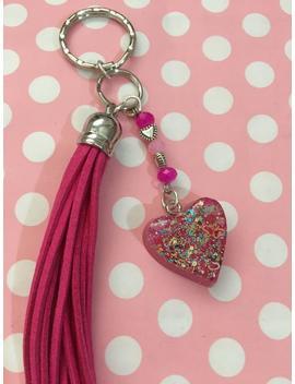 Resin Heart Keychain,Planner Charm,Phone Charm,Purse Charm,Chokers,Brooches,Kawaii,Tassel Charm,Bag Charm by Etsy