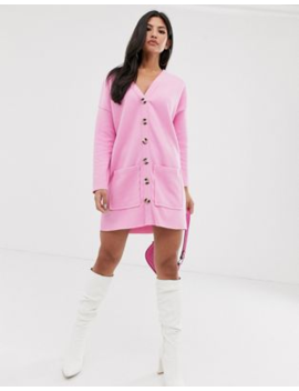 Asos Design Oversized Super Soft Button Through Dress by Asos Design