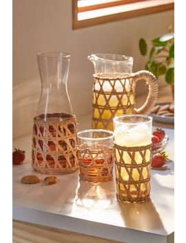 Amanda Lindroth Woven Iced Tea Glass by Amanda Lindroth