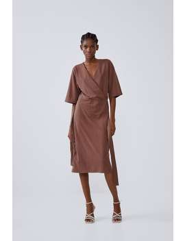 LuŹna Sukienka Midi Sukienki Kobieta by Zara
