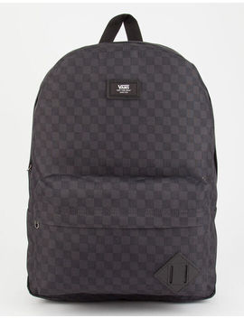 Vans Old Skool Check Charcoal Backpack by Vans