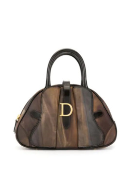 Marble Effect Boston Tote by Christian Dior Pre Owned