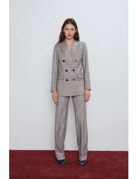 Checked Double Breasted Jacketnew In Woman by Zara