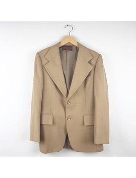 Yves Saint Laurent Vintage Tan Wool Blazer Size 40 Preowned/Used by Yves Saint Laurent