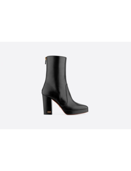 D Rise Lambskin Platform Ankle Boot by Dior